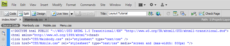 how to make a simple website in dreamweaver