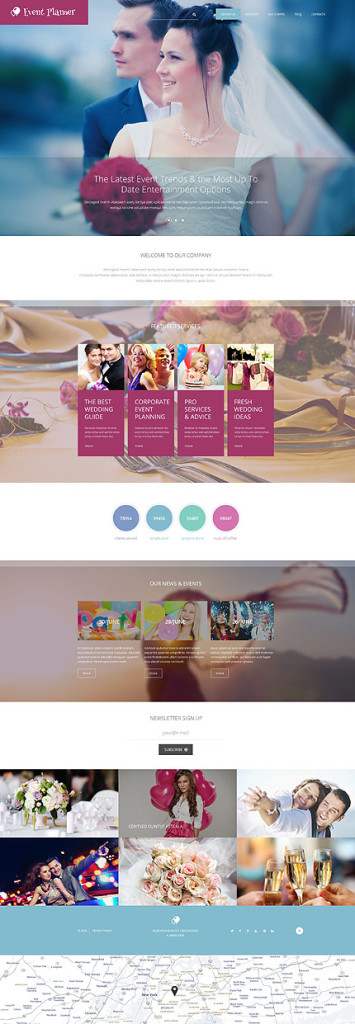 Template 55160 - Event Planner Responsive Drupal Template