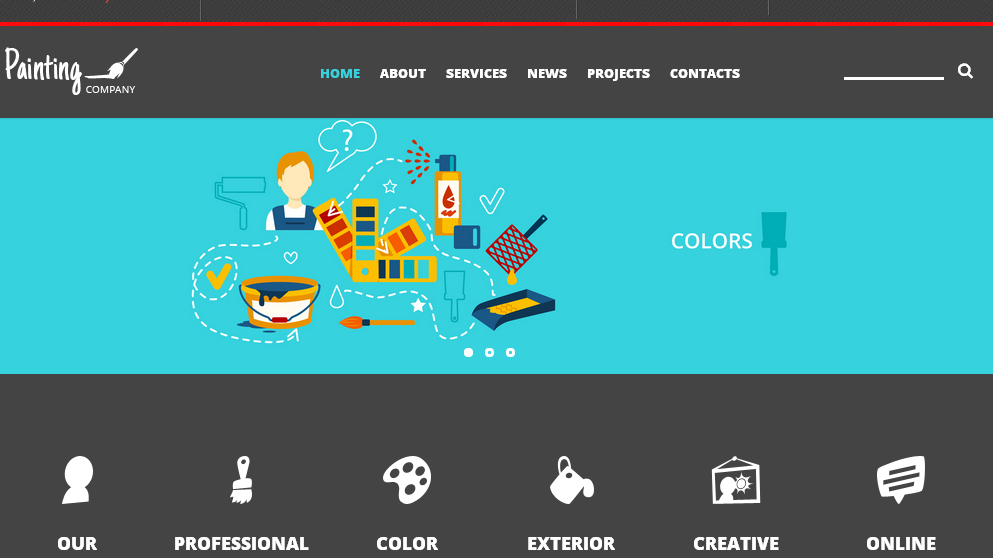 Nav for Template 52913 Painting Palette Joomla Template