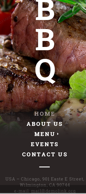 Nav for Template 53540 Bbq Restaurant Responsive Website Template