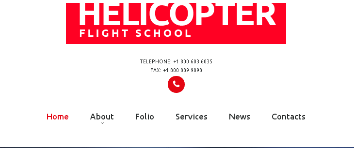 Navigation forTemplate 53326 - Helicopter Flight School Responsive Website Template