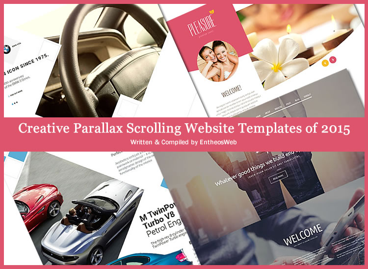 Creative parallax scrolling website templates of 2015 for Free html5 parallax scrolling template