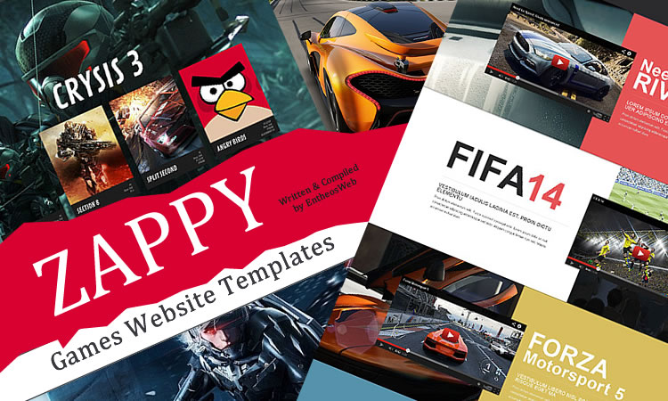 Zappy Games Website Templates