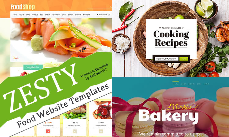 Zesty Food Website Templates