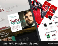 Best Web Templates July 2016