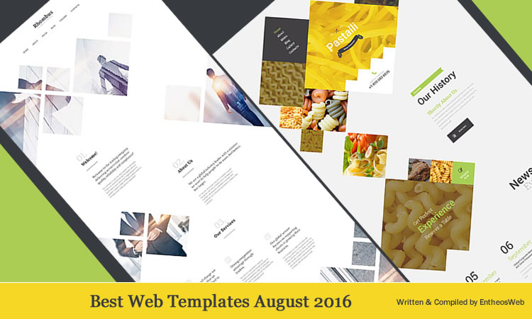 best website templates august 2016