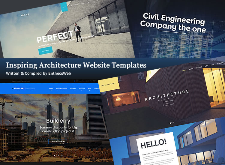 Inspiring Architecture Website Templates