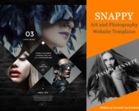 SNAPPY Art and Photography Website Templates