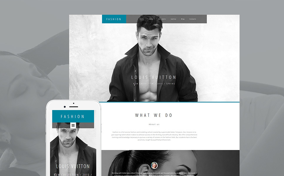 Template 59232 - Nova Fashion Responsive Moto CMS 3 Template with Lazy Load Effect, Carousel, Slider, Gallery, Blog, Video Integration