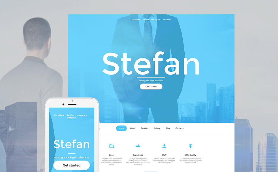 Template 59261 - Stefan Lawyers Responsive Moto CMS 3 Template
