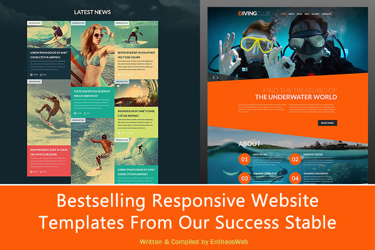 Bestselling Responsive Website Templates From Our Success Stable - Brochure website templates