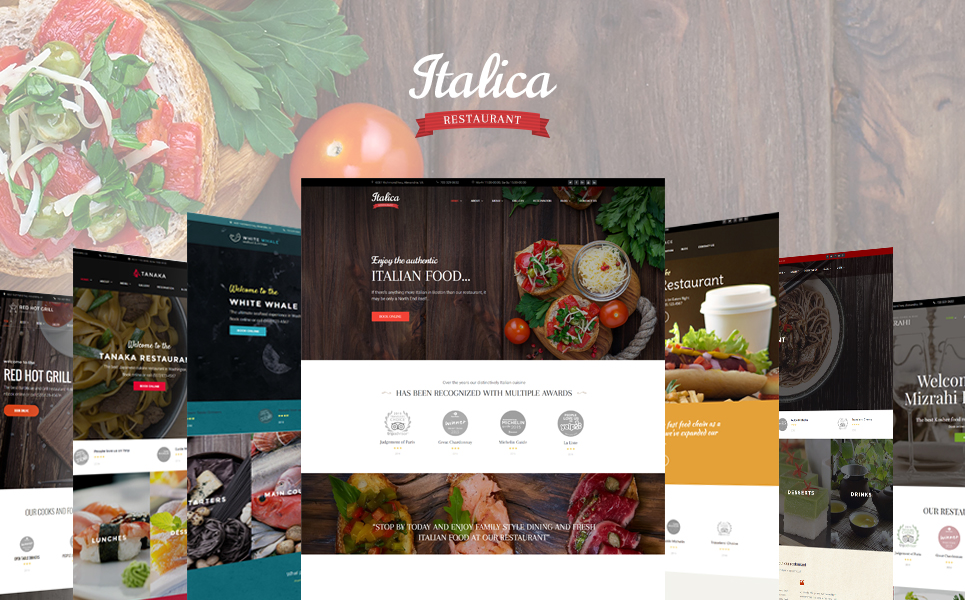 Italica - multipurpose restaurant WordPress theme with 6 skins