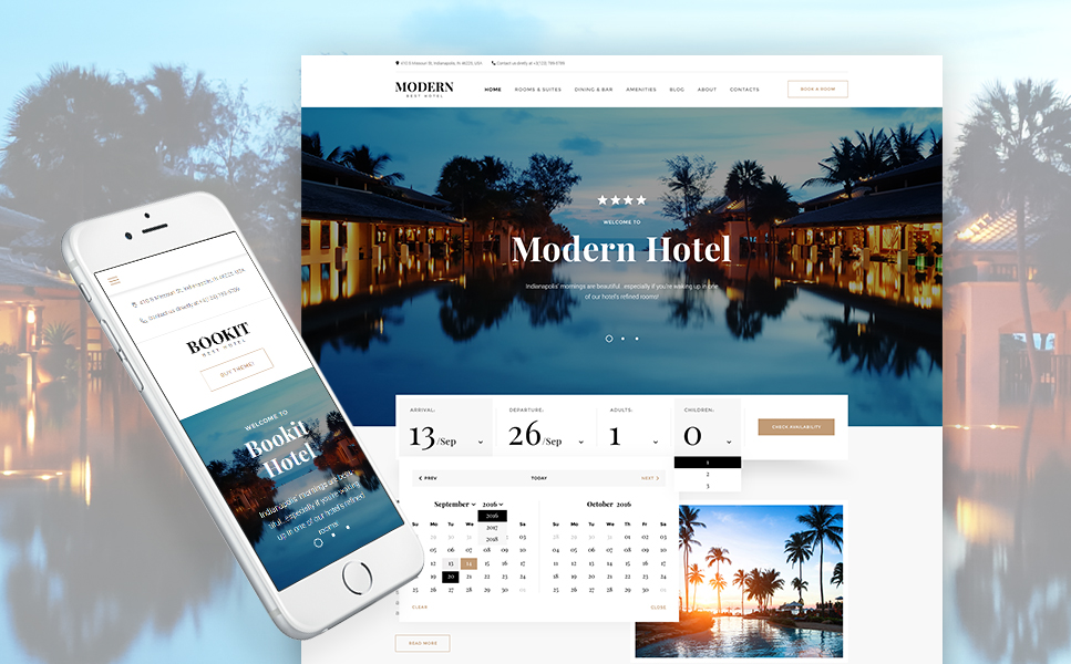 Bookit - Responsive Hotel WordPress Theme with Hotel Booking Plugin