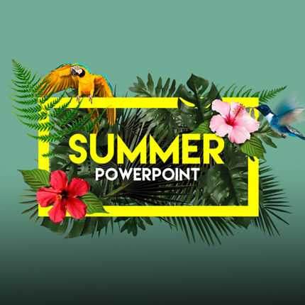 New Featured Template  Summer  Powerpoint  Bonus Powerpoint