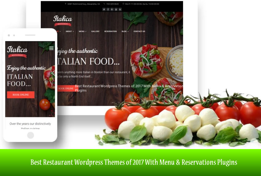 Best Restaurant WordPress Themes of 2017 With Menu & Reservations Plugins