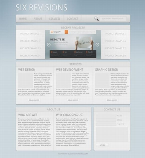 Make a Light and Sleek Web Layout