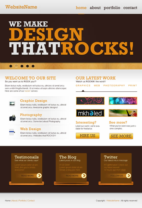 20 Outstanding tutorials for creating Web Layout in Photoshop