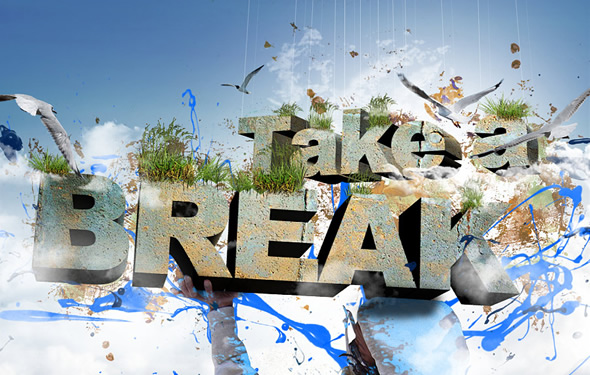 Create 3D Text Composition
