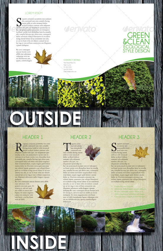Environmental Style Tri Fold Brochure
