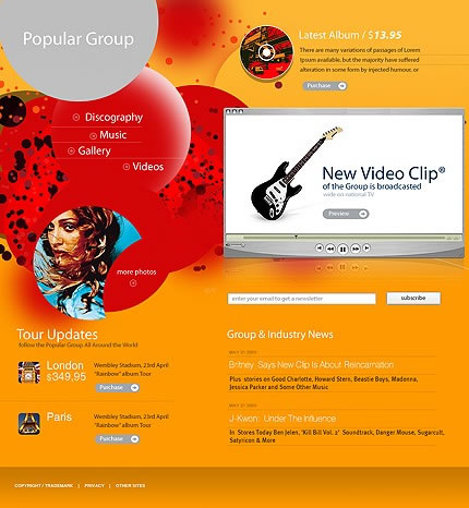 Popular Group Flash Website