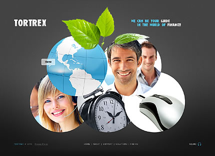 Business Website with Collage Using Cirlces