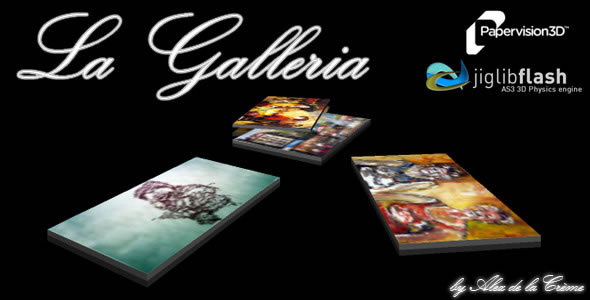 La Galleria: Real 3D Physics Image Gallery AS3 XML
