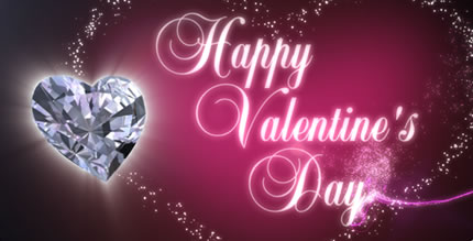 Diamond Heart on Valentine Day