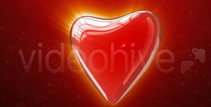 Heart On A Red Background Valentine's