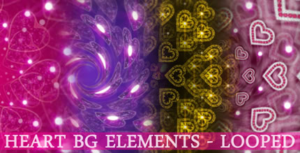 Heart LOOPED BG Elements PACK