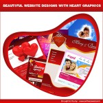 Beautiful Website Designs with Heart Graphics