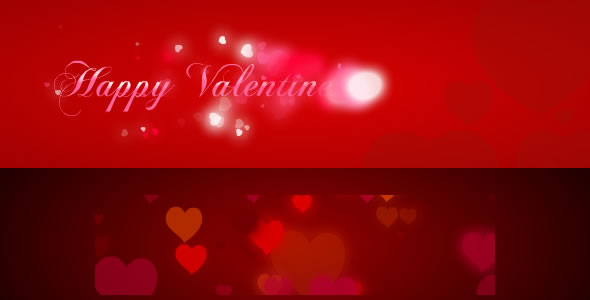 Valentine's Day Hearts Background FX