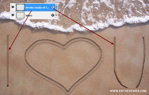 Create A Love Message On The Sand