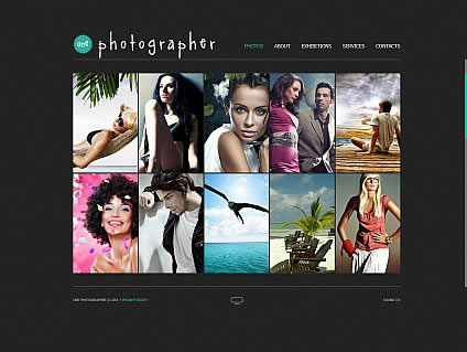 One Photographer Flash Photo Gallery Template