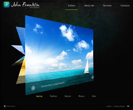 John Franklin Flash Website Template