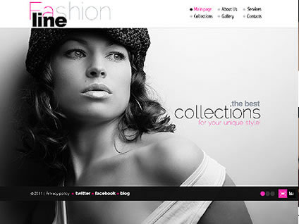 Fashion Line Flash Website Template