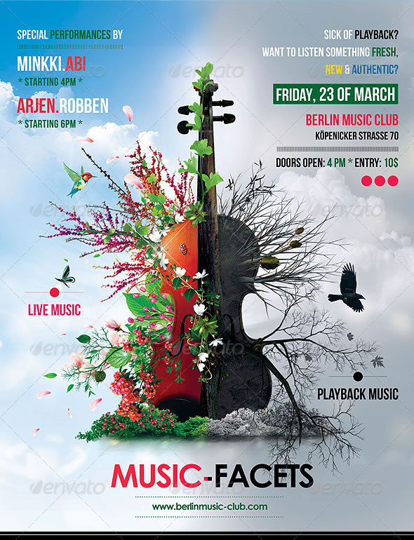 Music Facets Poster/Flyer