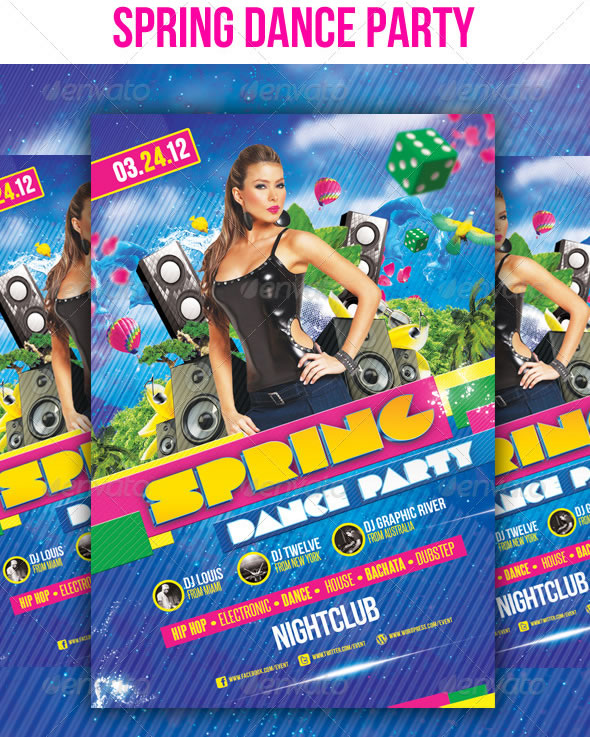 Spring Dance Party - Flyer Template