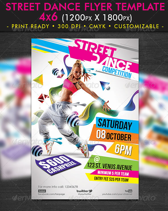 Street Dance Flyer Template