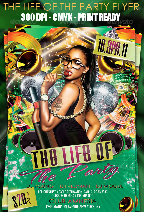 The Life Of The Party Flyer Template