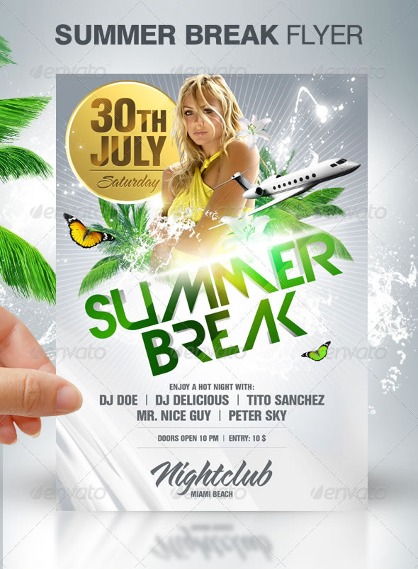 Summer Break Party Flyer