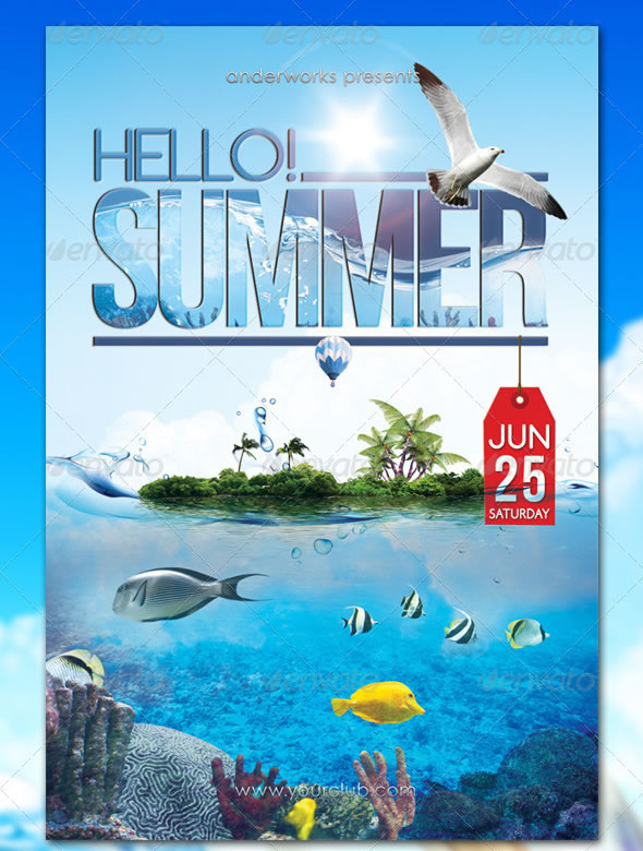 Hello! Summer - Party Flyer