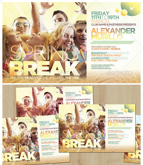 Spring Break / Summer Flyer Template
