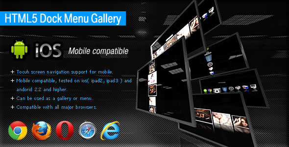 HTML5 Dock Menu Gallery