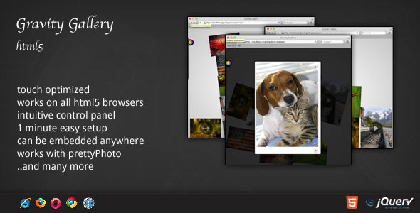 Gravity Gallery - HTML5 jQuery Plugin