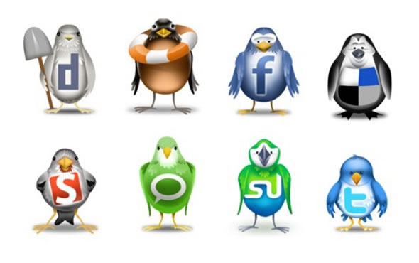 Birds - Social Media Icon Set