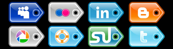 Social-Media Iconset – PriceTag Style