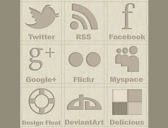 Brown social icons