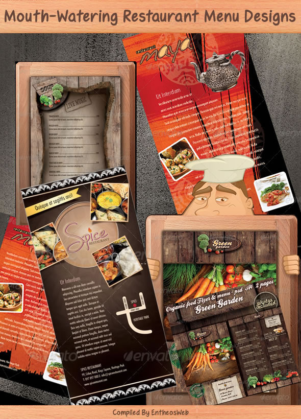 Mouth-Watering Restaurant Menu Designs