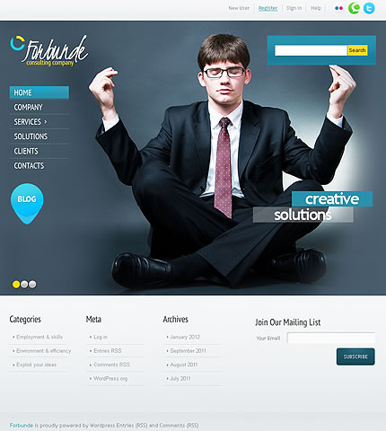 Consulting Company WordPress Theme