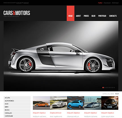Cars & WordPress Theme